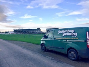 Surfacing a road for Cheltenham racecourse